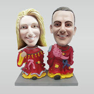 Personalized custom wedding cake bobble head
