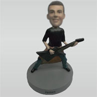 Custom man and bass bobbleheads