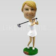 Custom Bobblehead Golf Woman Driving-10854
