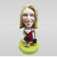 Custom Bobblehead Cheerleader Kneeling-10864