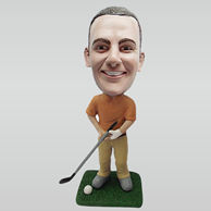 Personalized custom golf male bobbleheads