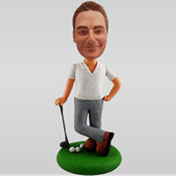 Personalized custom golf male bobble heads