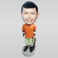 Personalized custom Skateboard boy bobbleheads
