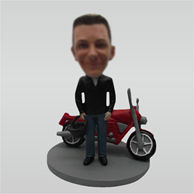 Custom man and Motorcycle bobbleheads