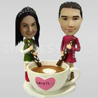 Customize own wedding cake toppers-10927