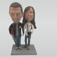 Personalized Custom couple bobbleheads