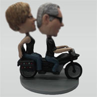 Custom couple and Motorcycle bobbleheads