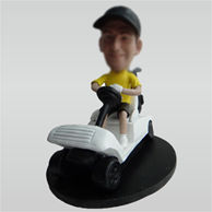 Personalized custom man bobble heads with Golf Carts