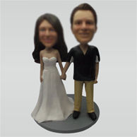 Custom wedding bobble head doll