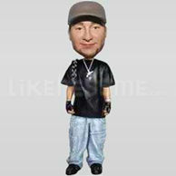 Custom Bobblehead Music Rapper Bling-10977