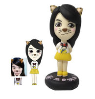 Personalized Custom Female  Cartoon Bobbleheads