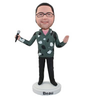 Custom fashinable dressing singer bobble heads