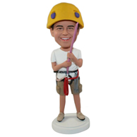 Custom climbing winner bobble heads