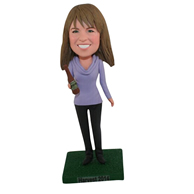 The gray woman custom bobbleheads