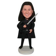 The fencing woman custom bobbleheads