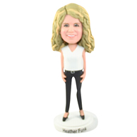 The blond woman custom bobbleheads