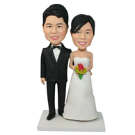The newly married couple custom bobbleheads