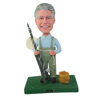 The fishing man custom bobbleheads