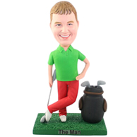 The golf man custom bobbleheads