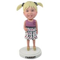 The little girl custom bobbleheads
