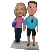 Custom  the pair of husband and wife bobbleheads