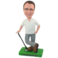 Custom  the golf man bobble heads