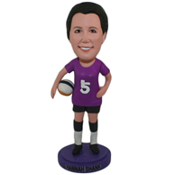 Custom the football player  bobble heads