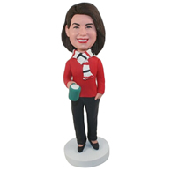Custom the sweater woman  bobble heads