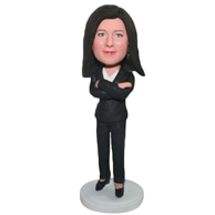 Custom suit woman  bobble heads
