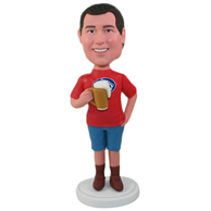 Custom  the red man bobble heads
