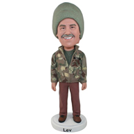 Custom  the camouflage man bobble heads