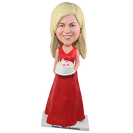 The woman's birthday custom bobbleheads