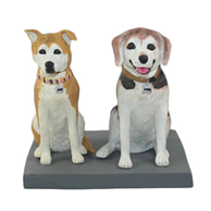The two dogs custom bobbleheads