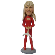 Custom  red woman bobbleheads
