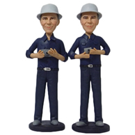 Custom  two photography man bobble heads