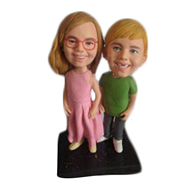 Custom  pair of husband and wife bobble heads