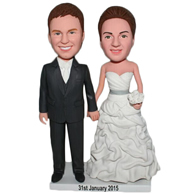 Custom  pair of husband and wife  bobbleheads doll