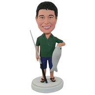 Custom  fishing man bobbleheads