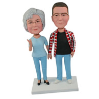 Custom pair of husband and wife  bobbleheads