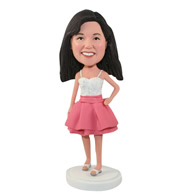 Custom the dressing woman bobble heads