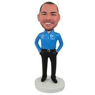 Custom blue man  bobbleheads