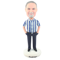 Custom  the stripe man bobble heads