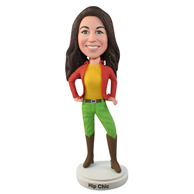 Custom the red woman  bobble heads