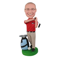 Custom golf man  bobble heads