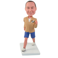 Custom  the yellow man bobbleheads doll