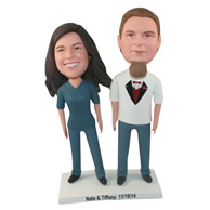 Custom the pair of husband and wife bobble heads