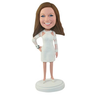 Custom the white woman  bobble heads