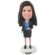 Custom  the suit woman bobble heads