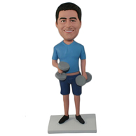 Custom  the dumbbell man bobble heads