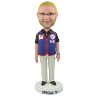Custom  the glasses man bobble heads